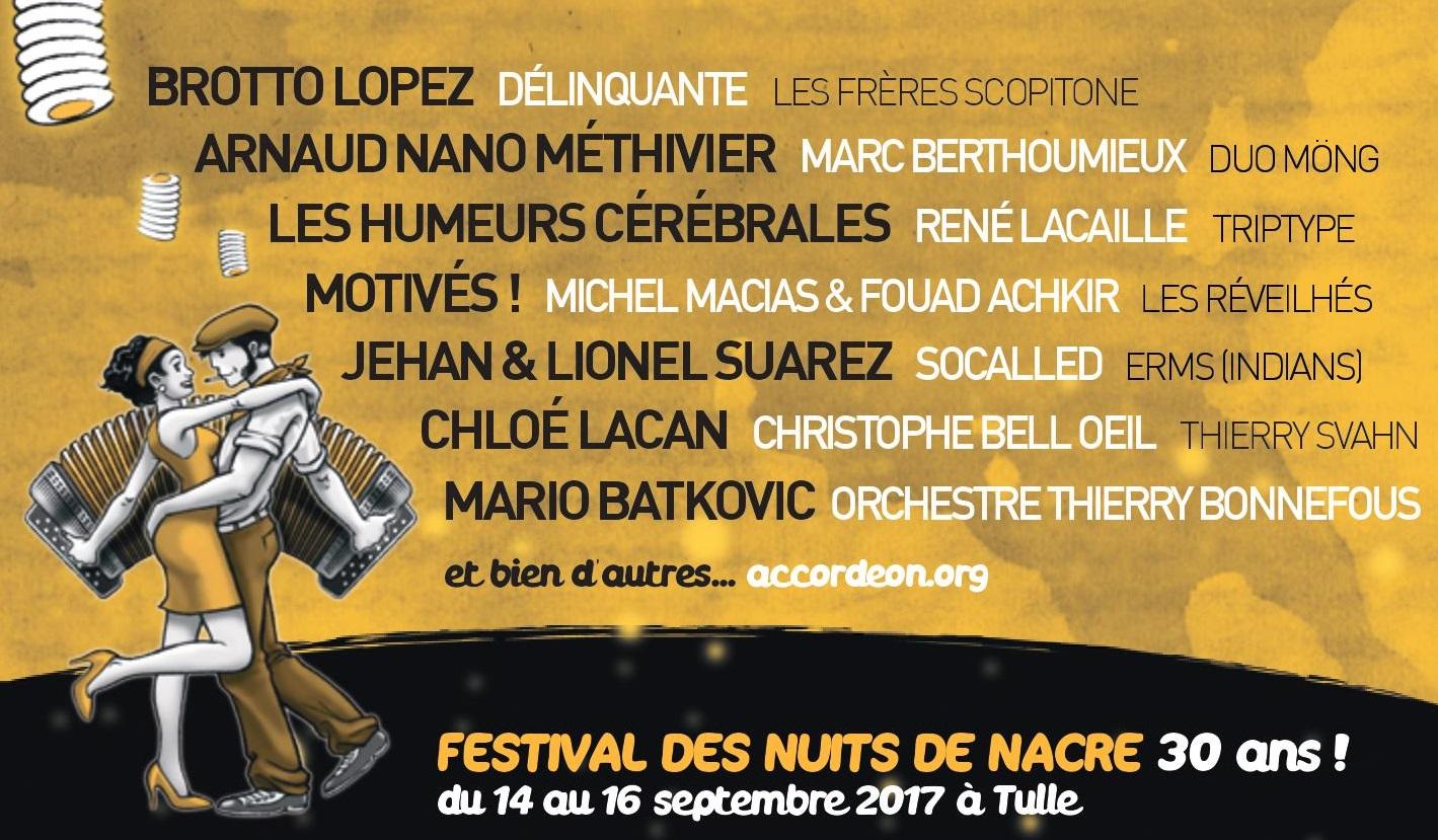 NUITS DE NACRE 2017 PROGRAMME